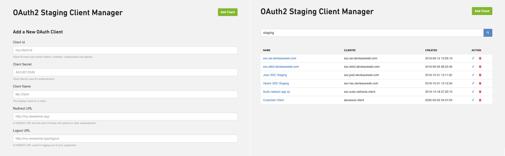 OAuth Hackathon